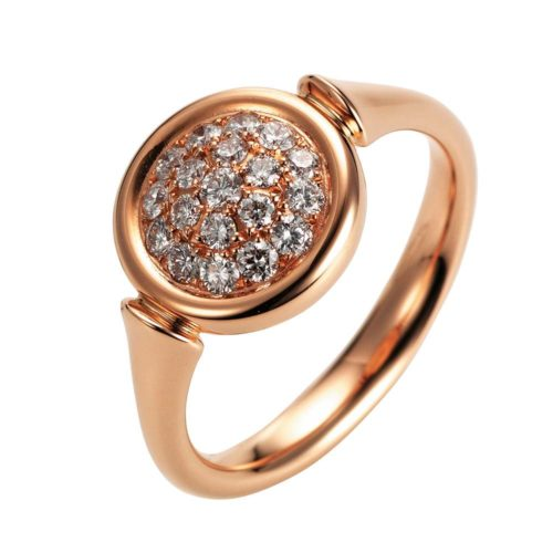 Gold-Ring mit Diamanten
