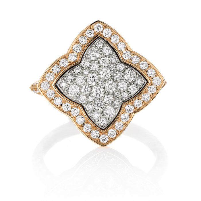 Diamant-besetzter Gold-Ring