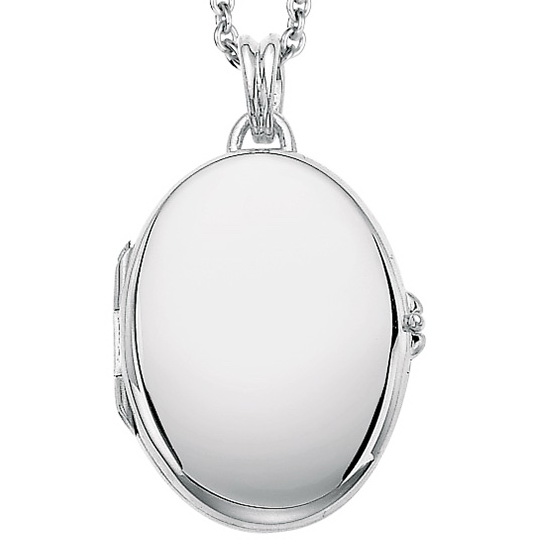 white gold, oval locket-pendant