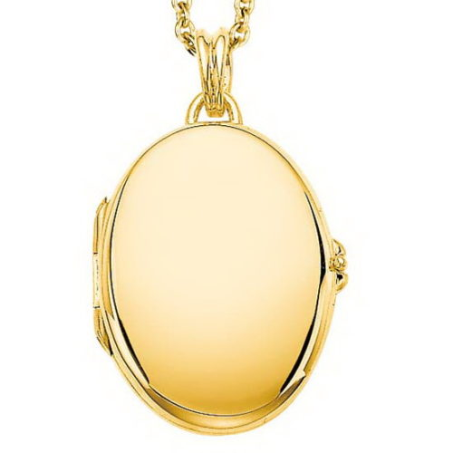 yellow gold, oval locket-pendant