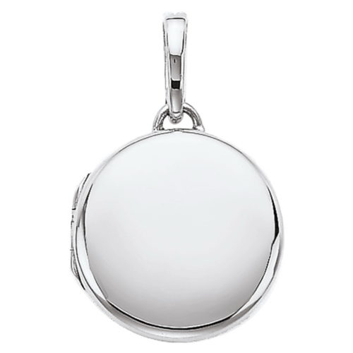 white gold, round locket-pendant