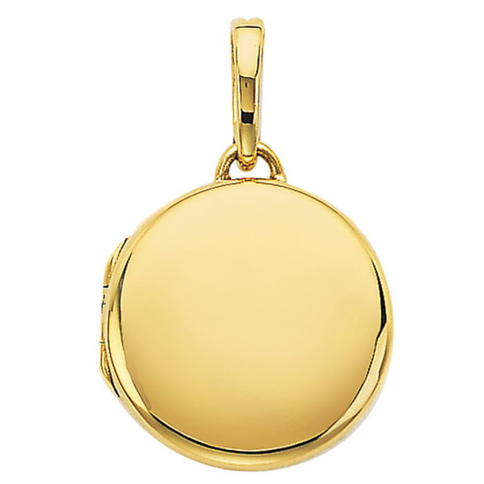 yellow gold, round locket-pendant