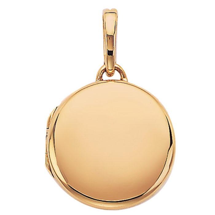 rosé-goldener, runder, Medaillon-Anhänger