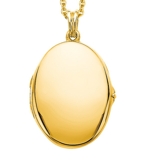 gelb-goldener, ovaler, Medaillon-Anhänger