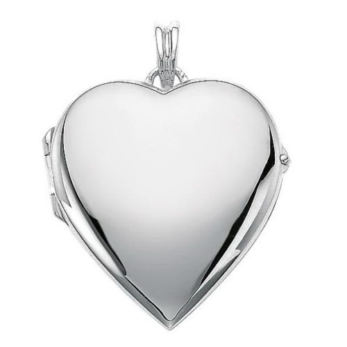 white gold, heart-shaped locket-pendant