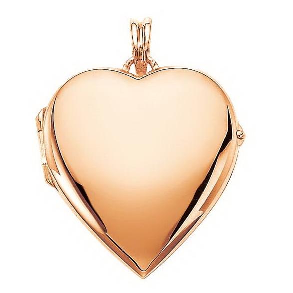 rose gold, heart-shaped locket-pendant