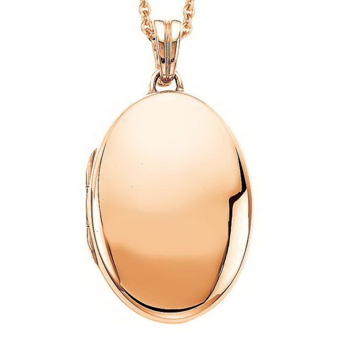 rose-gold, oval locket-pendant