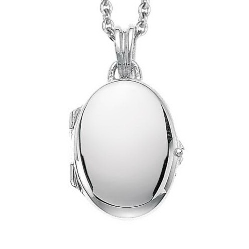white gold, oval locket-pendant