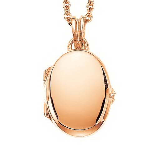 rose gold, oval locket-pendant