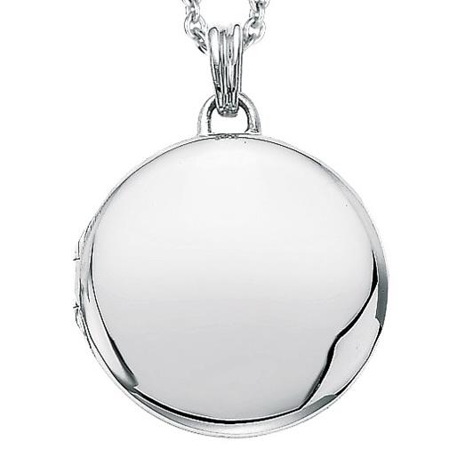 white gold, round locket-pendant