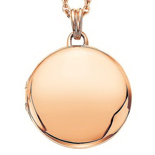 rose gold, round locket-pendant