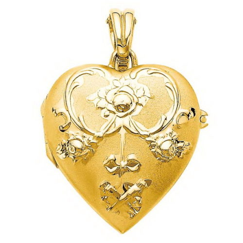 yellow gold, heart-shaped locket-pendant