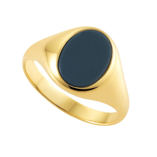 Yellow-gold signet-ring with blue niccolo, without engraving