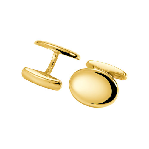 oval yellow gold cufflinks