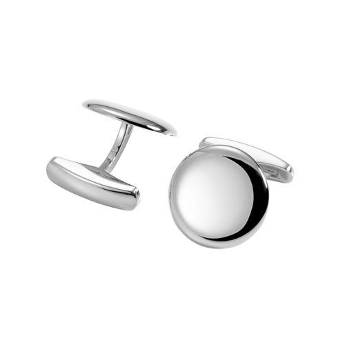 round white gold cufflinks