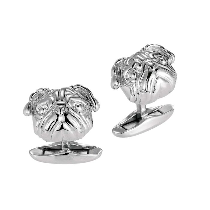 925/- sterling silver cufflinks with motif bulldog