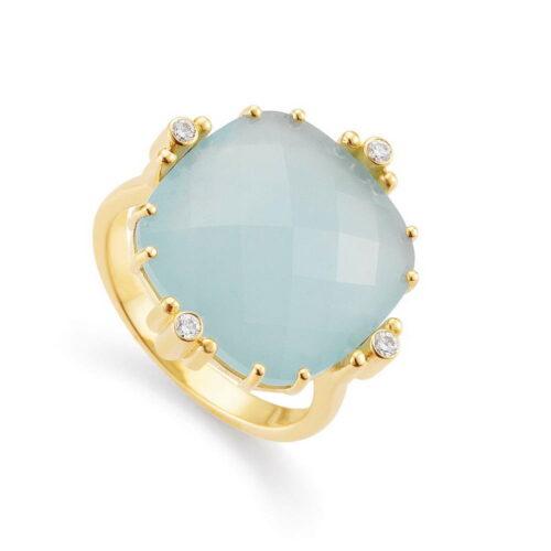 Ring Celeste Aquamarin Diamanten Gold